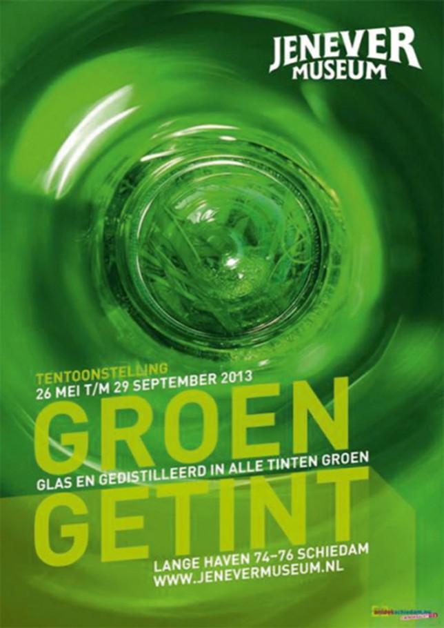 """Affiche """"groen getint"""""""